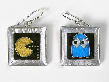 pacman-earrings