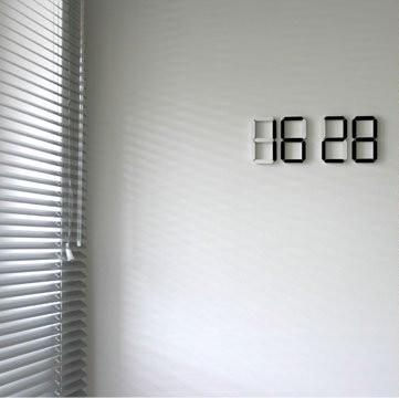 Reloj digital de pared con dise o minimalista chicageek - Reloj de pared de diseno ...