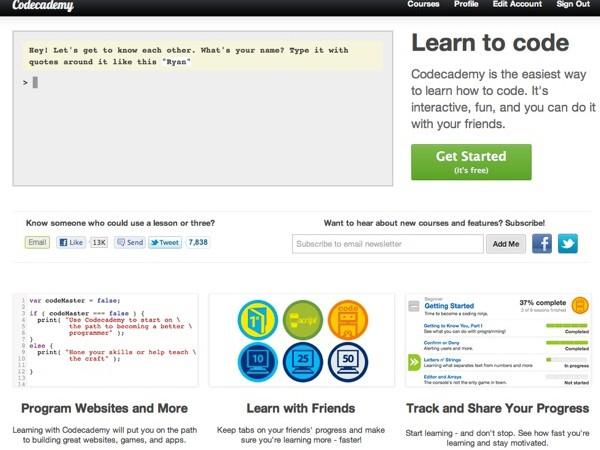 Codecademy: aprende a programar fácilmente