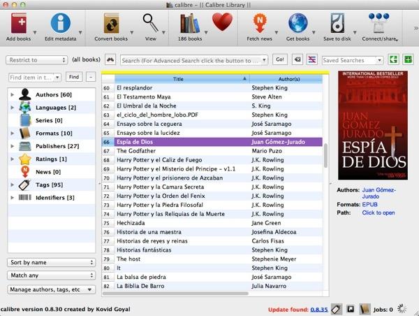 Cómo convertir ebooks de formato con Calibre