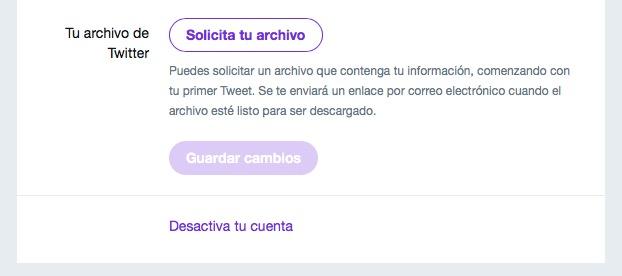 Cómo descargar tu archivo de tuits en Twitter