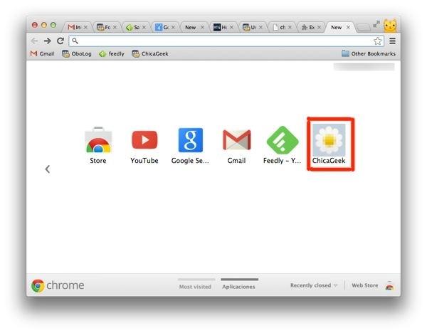 La ventana de google chrome no sale centrada en el monitor