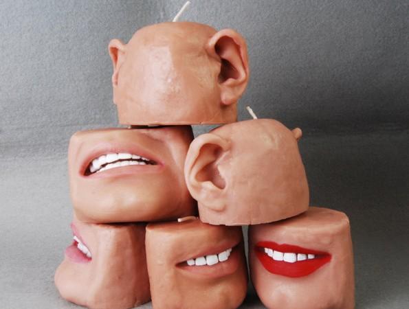 Estas velas en forma de oreja o boca dan mucho yuyu