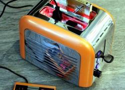 Una consola retro Nintendo en una tostadora