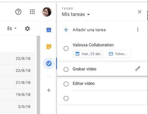 Google Tasks, la lista de tareas integrada con Gmail