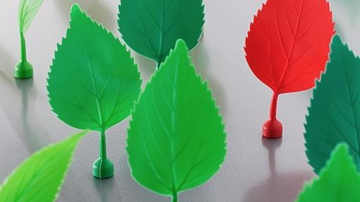 Originales imanes para la nevera con forma de hojas