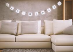 Scrabble Lights: letras que iluminan tu casa