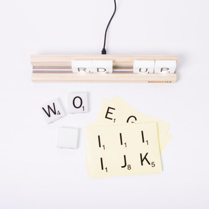 Scrabble Tile Lights: letras que iluminan tu casa