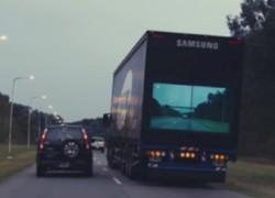 Este camión con pantalla hace los adelantamientos más seguros