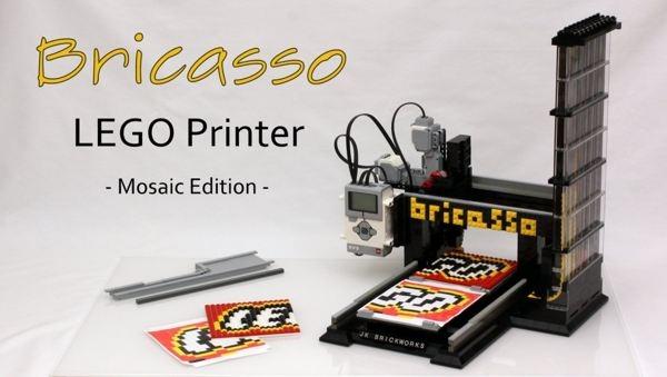 Bricasso, una impresora que crea mosaicos con piezas de LEGO