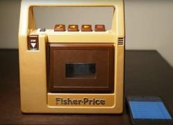 Un cassette Fisher Price convertido en altavoz bluetooth