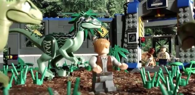 Jurassic World recreada en 90 segundos con LEGO