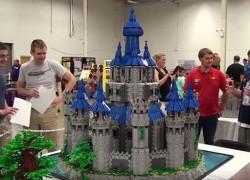 Impresionante réplica en LEGO del castillo de Hyrule de Zelda