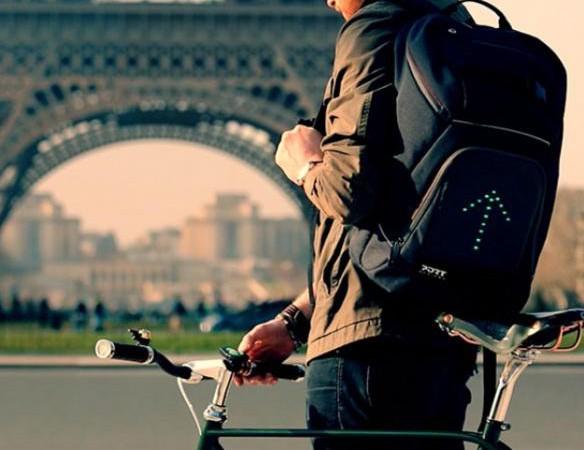 GO LED: mochila con luz para que te vean bien en bicicleta