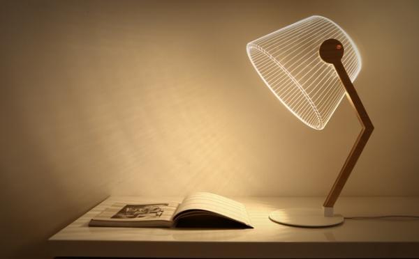 Lámparas para escritorio con ilusión óptica incluida