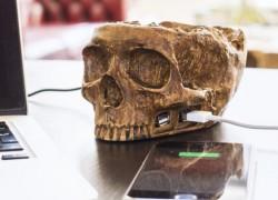 Un hub USB con forma de cráneo para Halloween