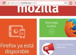 Ya puedes usar Firefox para navegar en tu iPhone o iPad