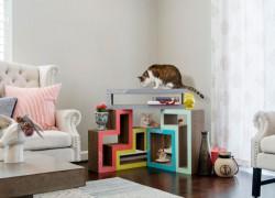 Katris, muebles en forma de Tetris para tu gato