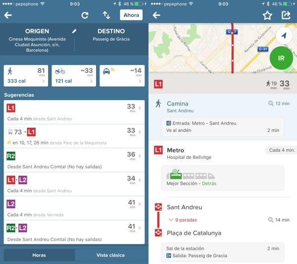 Citymapper, para moverte más rápido en transporte público
