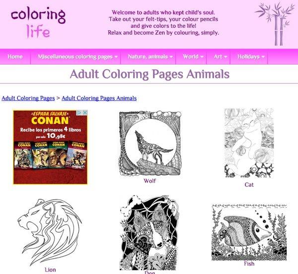 Libros de colorear para adultos: 5 webs para imprimir dibujos ...