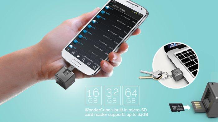 WonderCube, el mini-llavero con accesorios para tu móvil