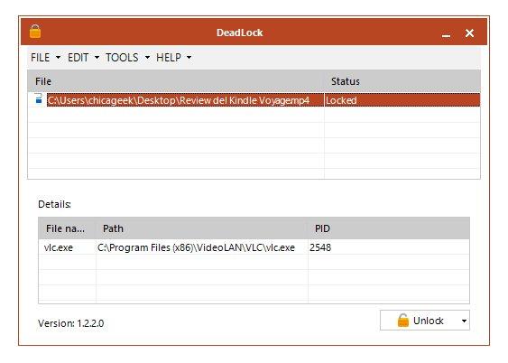 Cómo liberar archivos bloqueados porque están en uso