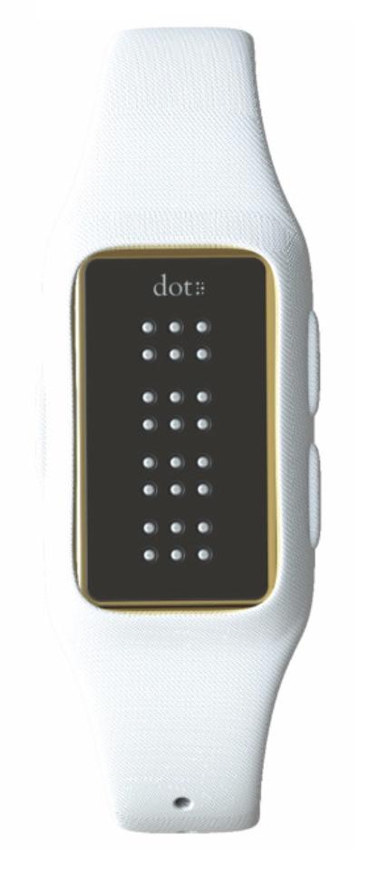 Dot: un smartwatch que muestra la hora usando braille