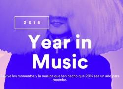 ¿Cómo ha sido tu año 2015 en música de Spotify?