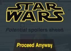Evita spoilers de Star Wars: El despertar de la fuerza con esta extensión de Chrome
