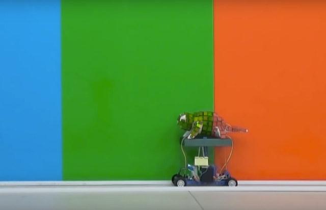 Un robot camaleón capaz de cambiar de color