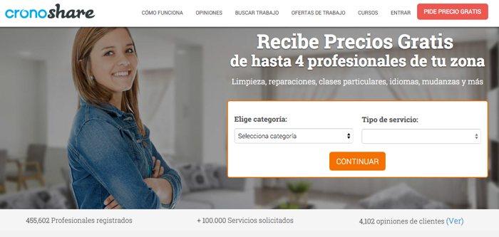 Cronoshare: profesionales para todo tipo de tareas y servicios, a un clic de distancia