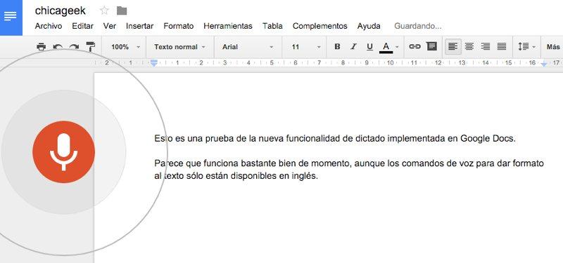 Ahora puedes dictar todos tus documentos a Google Docs