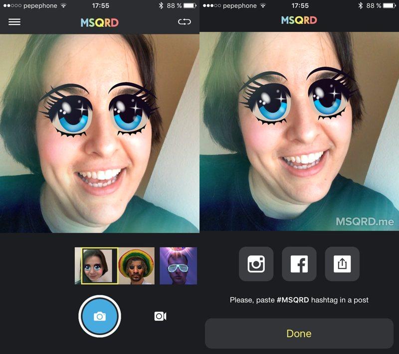 MSQRD by Masquerade, una divertida app para disfrazarte en tus selfies