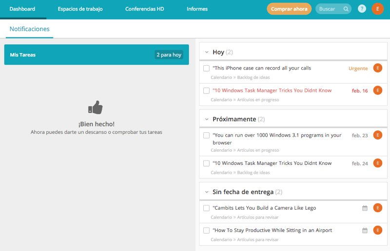 Redbooth, un completo sistema de gestión de proyectos online
