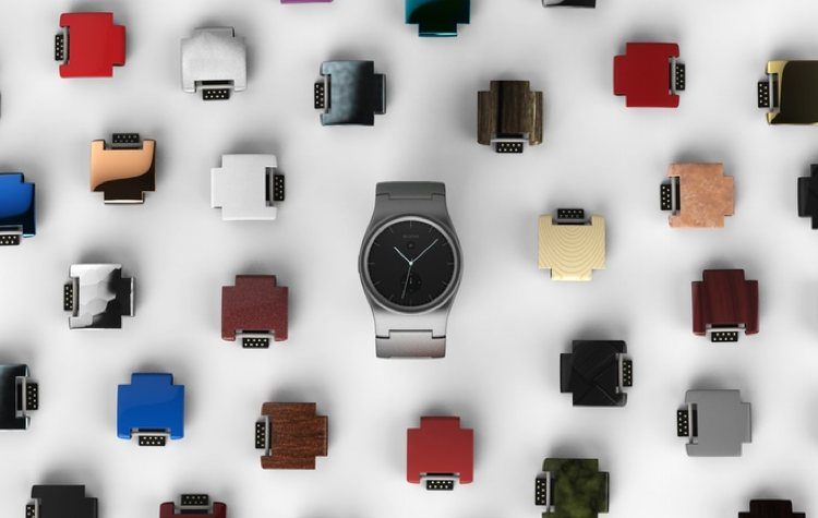 Un smartwatch construido con piezas que puedes personalizar a tu gusto