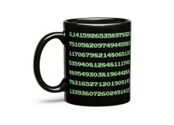 Esta taza muestra 334 decimales de Pi al calentarse