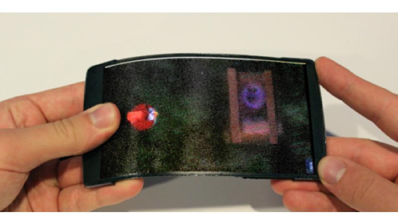 HoloFlex: prototipo de smartpone con pantalla fléxible y 3D
