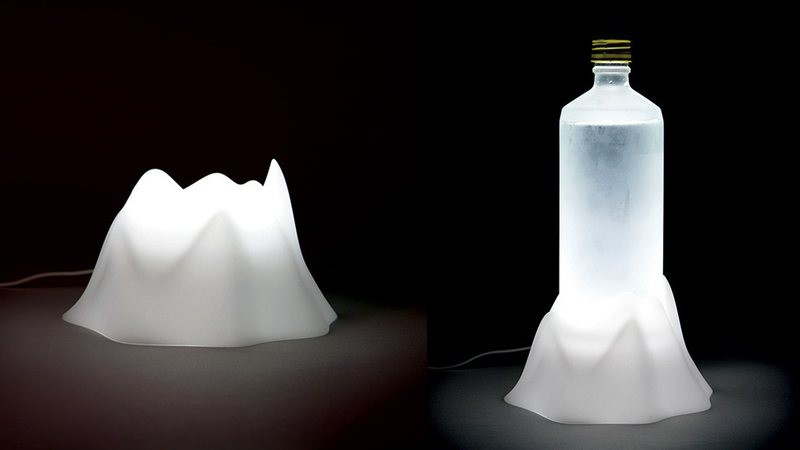 Volcano: una lámpara para iluminar tus vasos y botellas