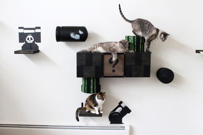 Muebles de Super Mario para tu gato