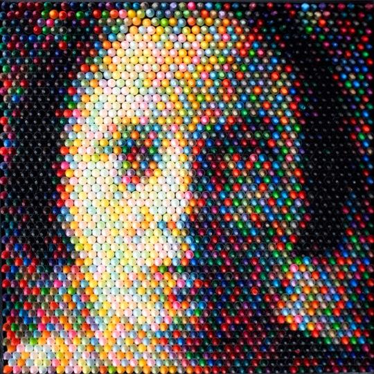 Arte creado con ceras de colores... pero no como crees