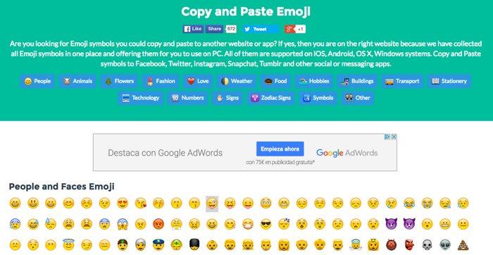 5 webs para copiar y pegar emojis, y usarlos donde quieras