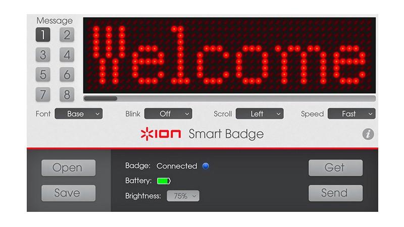 Una etiqueta inteligente bluetooth con mensajes personalizables