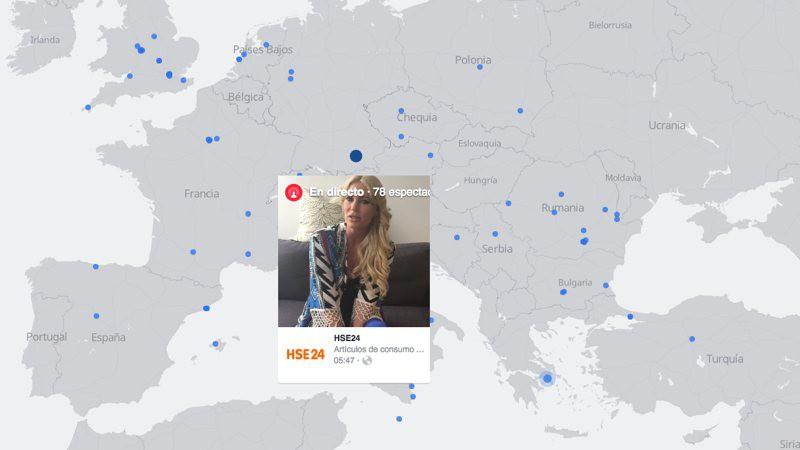 Un mapa para ver todos los vídeos en directo de Facebook