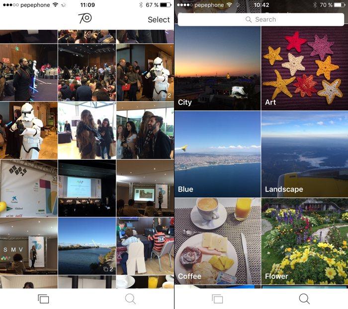 The Roll organiza automáticamente las fotos de tu iPhone
