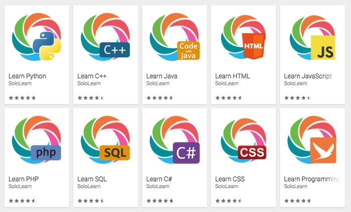 SoloLearn, una colección de apps de móvil para aprender a programar