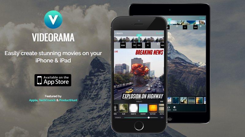 Videorama: edita y añade efectos a tus vídeos en iPhone