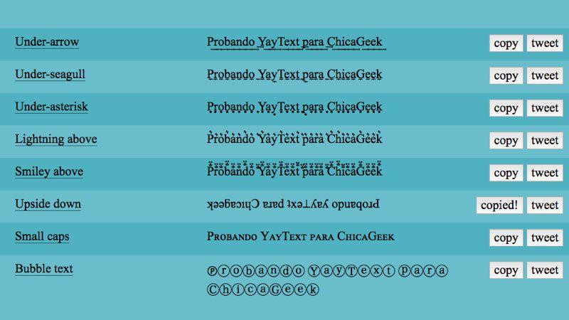 Cómo añadir un efecto de texto en Facebook o Twitter