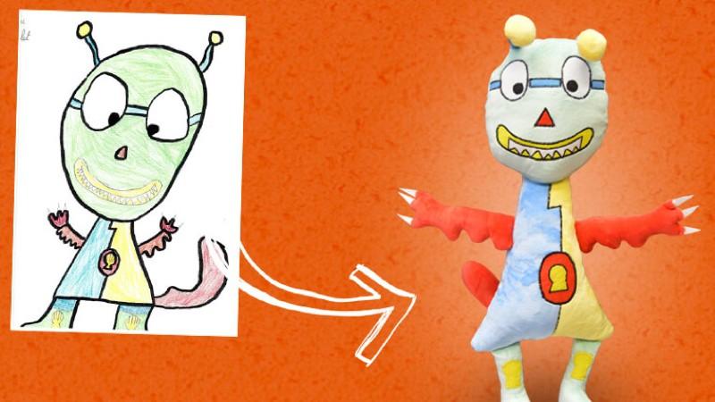 Esta web convierte en peluches reales los dibujos de los niños