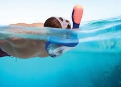 Máscara para ver y respirar bajo el agua con más comodidad