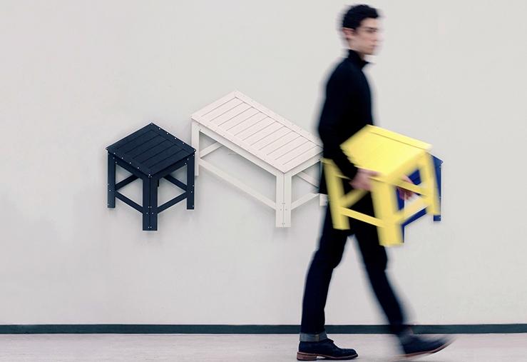 Estos muebles plegables también te sirven como decoración